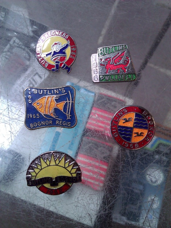 Enamel badges from Butlins