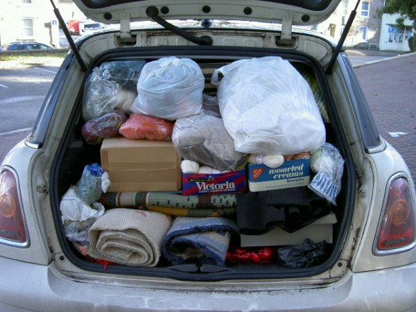 Car full of auction goodies