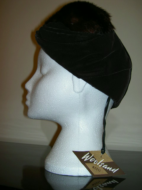 Velvet and mink hat