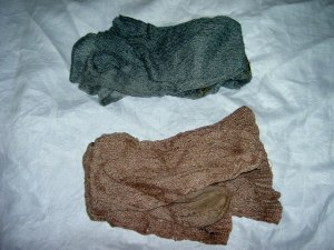 Two Pairs of Knitted Stockings
