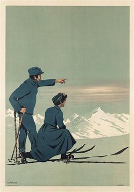 1910 Ski Poster