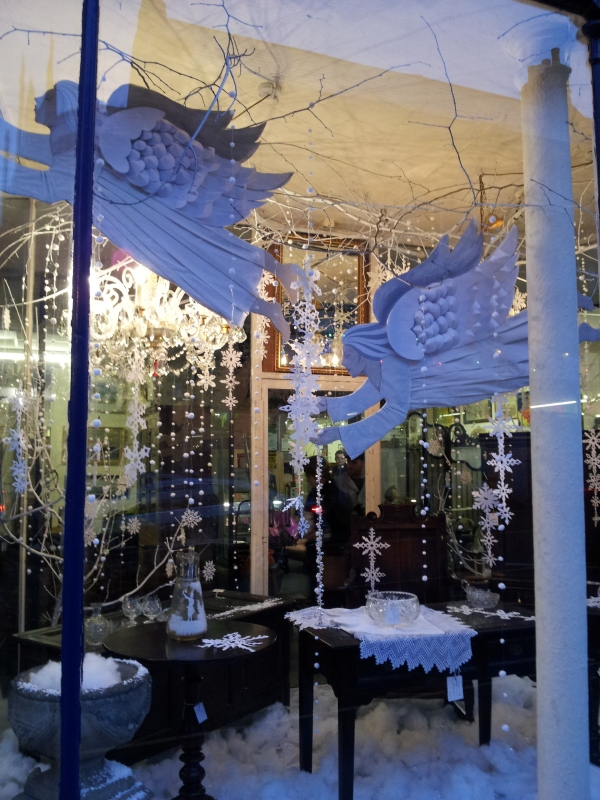Beautifully Decorated Christmas Window