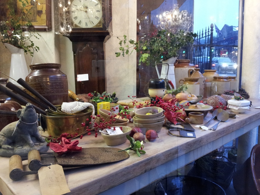 Kitchen Table WIndow Display