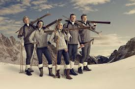 Skiers in Nordic Sweaters