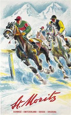 Racing in St Moritz 1952