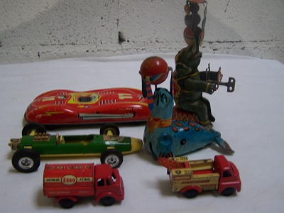 Smaller Tinplate Toys
