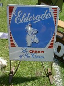 Enamel Ice Cream Sign