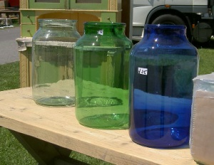 Large Coloured Glass Jars