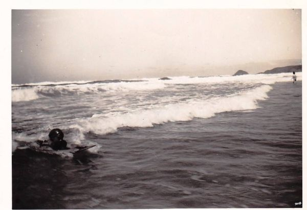 Vintage surfer photo offered on Ebay